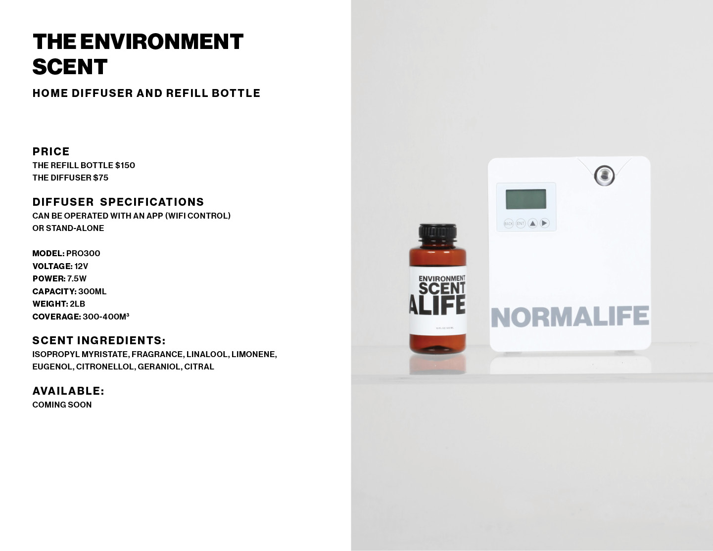 Environment Scent product info