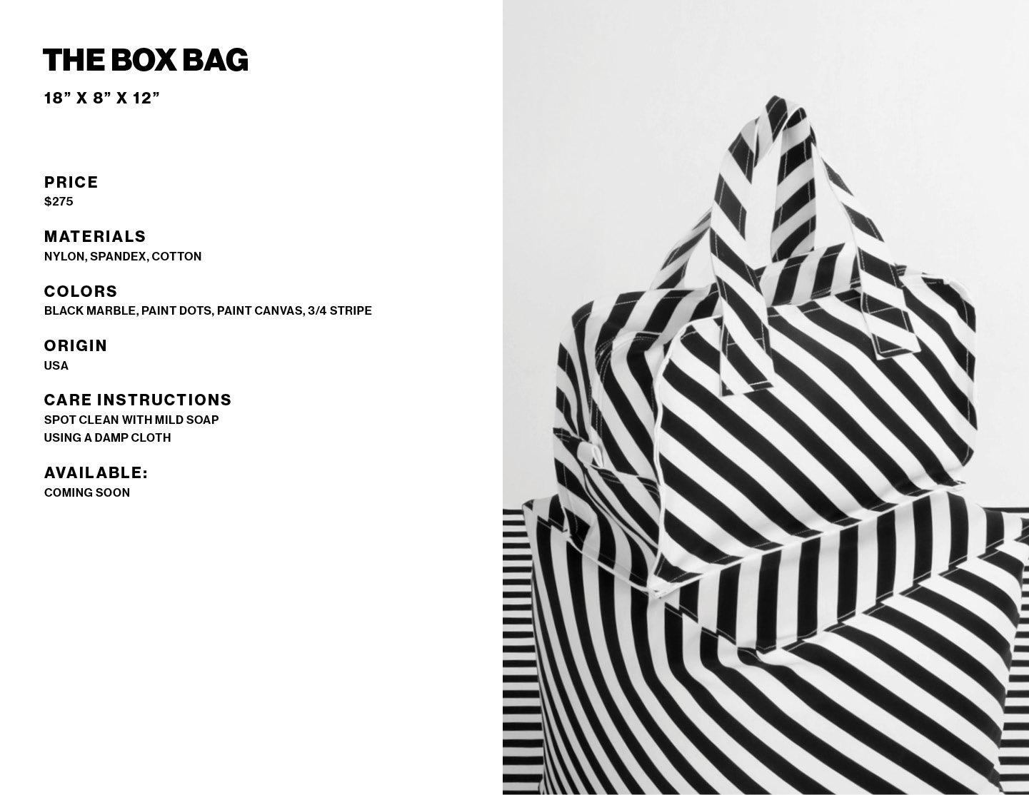 The Box Bag product info