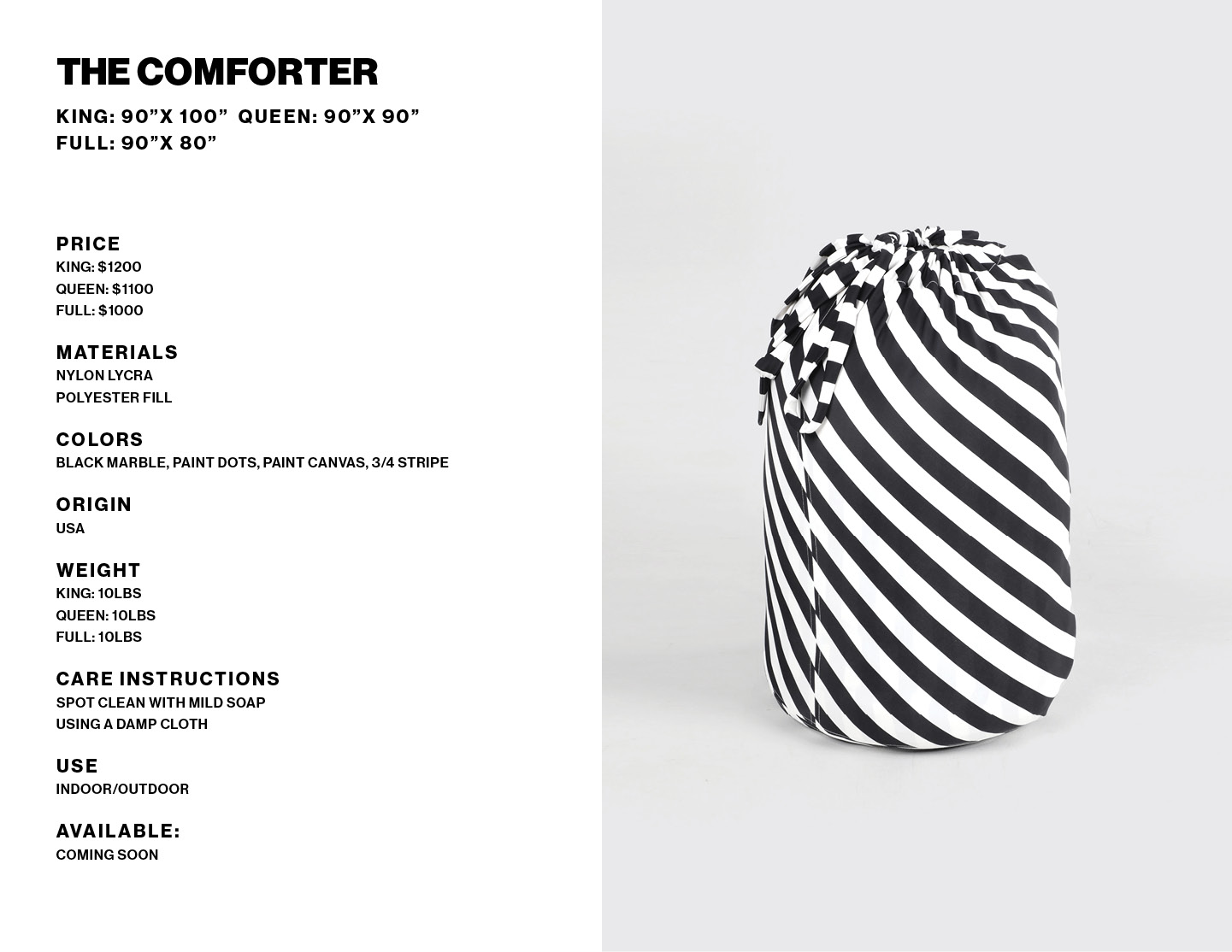 The Comforter product info