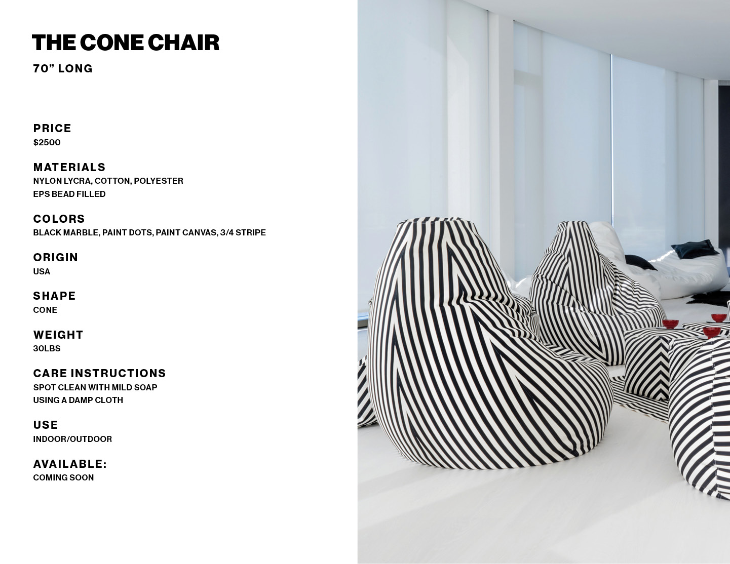 The Cone Chair product info