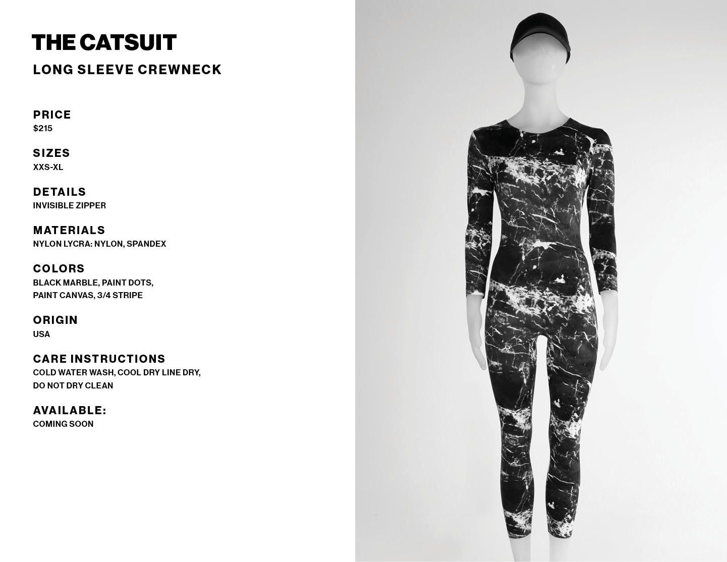 Catsuit product info