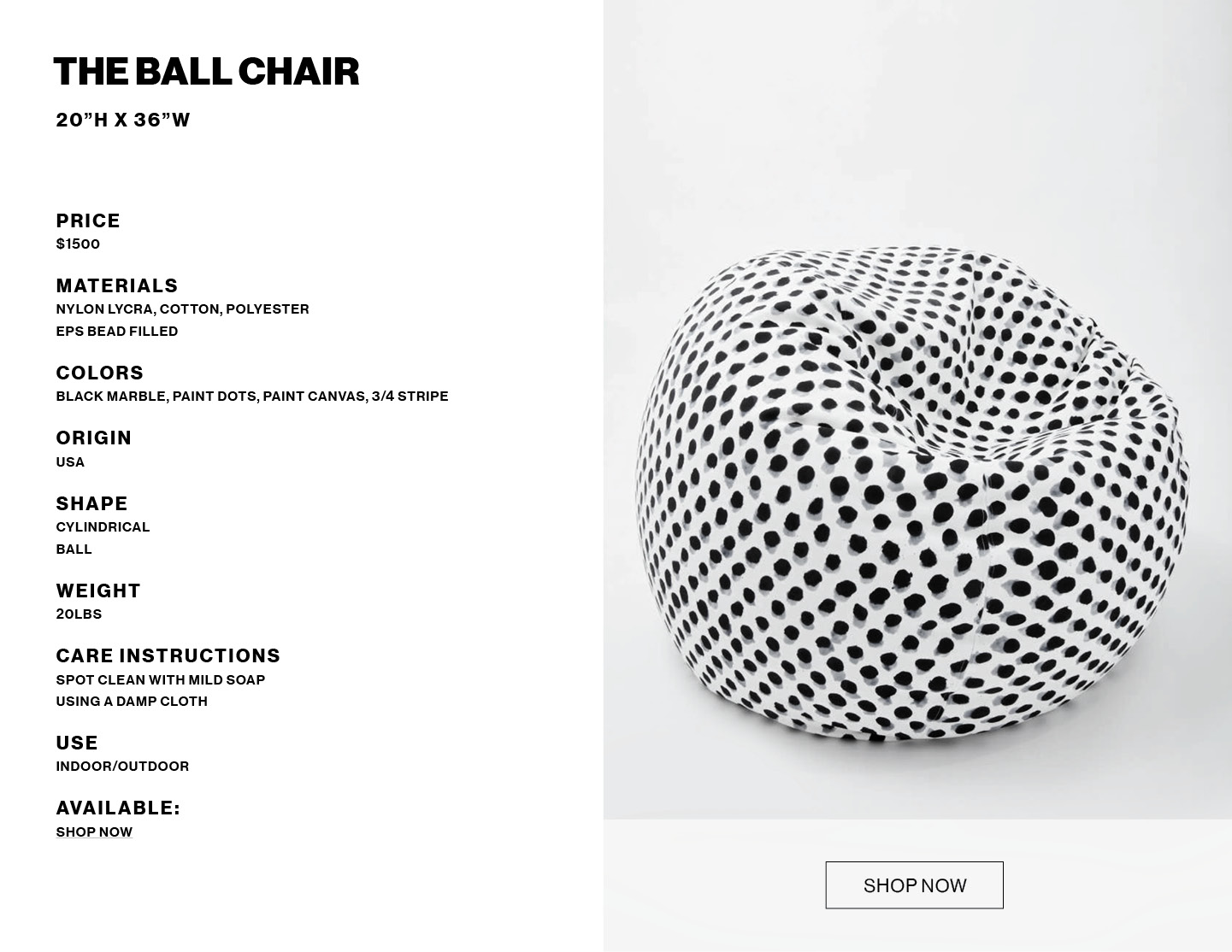 The Ball Chair product info